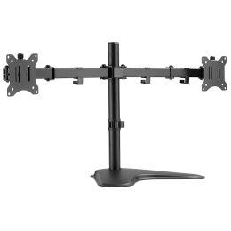 LogiLink TFT-/LCD-Monitorarm mit Standfuß, 2-fach, schwarz