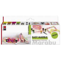 Marabu Marmorierfarbe easy marble, Set NEON
