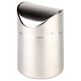 APS Tisch-Abfallbehälter, aus Edelstahl, matt poliert
