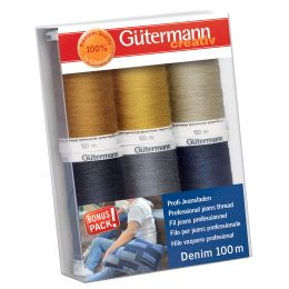 Gütermann Nähfaden-Set Denim, 6 Spulen