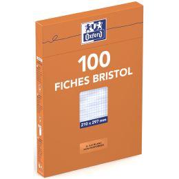 Oxford Karteikarten, DIN A4, blanko, gelb, 210 g/qm