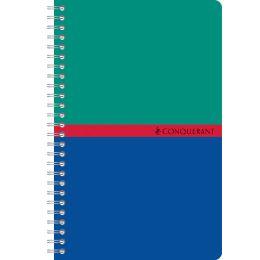 CONQUERANT SEPT Spiralbuch, 110 x 170 mm, kariert, 90 Blatt