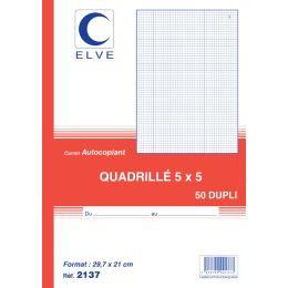 ELVE Notizbuch, 140 x 210 mm, kariert (5/5), 3 x 50 Blatt