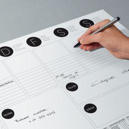 sigel Papier-Schreibunterlage, DIN A3, schwarz / weiß