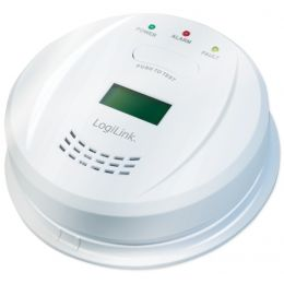 LogiLink Kohlenmonoxidmelder mit LCD-Display, weiß