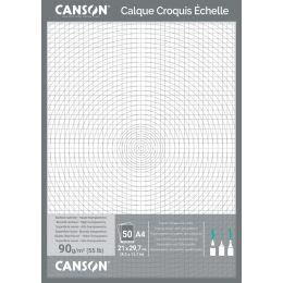 CANSON technisches Zeichenpapier, DIN A4, 70/75 g/qm