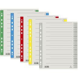 EXACOMPTA Trennblätter, DIN A4 Überbreite, gelb