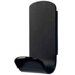 UNiLUX Garderobenhaken STEELY, magnetisch, schwarz