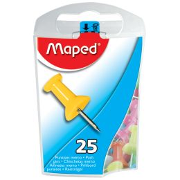 Maped Pinnwand-Nadeln, farbig sortiert, in Spenderdose