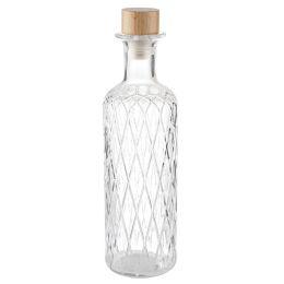 APS Glaskaraffe DIAMOND, 0,8 Liter, glasklar
