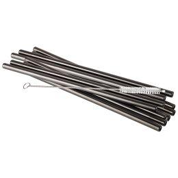 APS Trinkhalm, aus Edelstahl, Länge: 215 mm, schwarz