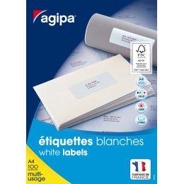 agipa Universal-Etiketten, 105 x 42 mm, weiß, rechteckig