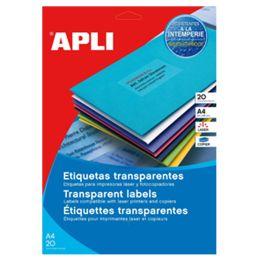 agipa Wetterfeste Etiketten, 99,1 x 67,7 mm, transparent