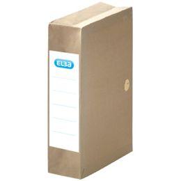 ELBA Archivmappe, dehnbar, mit Einschlagklappen, beige