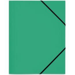 ELBA Eckspannermappe Standard, DIN A4, aus PP, grün