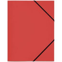 ELBA Eckspannermappe Standard, DIN A4, aus PP, rot