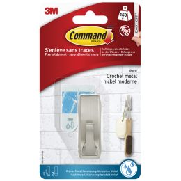 3M Command Metall-Badhaken Modern, Größe: S, silber
