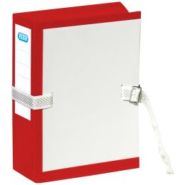 ELBA Archivmappe mit Metallschnalle, dehnbar, rot