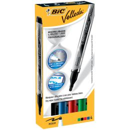 BIC Whiteboard-Marker Velleda Liquid Ink, 4er Etui