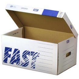 FAST Archiv-Klappdeckelbox Standard Container, aus Wellpappe