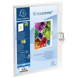 EXACOMPTA Dokumentenmappe Kreacover, DIN A4, weiß
