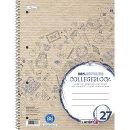 LANDRÉ Collegeblock Recycling, DIN A4+, liniert, 80 Blatt