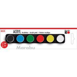 Marabu Acrylfarben-Set BASIC, 6 x 3,5 ml