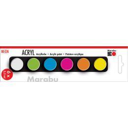 Marabu Acrylfarben-Set NEON, 6 x 3,5 ml