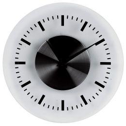 unilux Wanduhr On Time, aus Kunststoff, silber