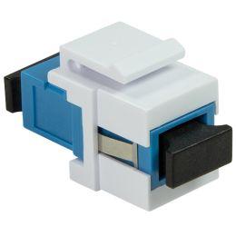 LogiLink LWL Kupplung, 2x SC-Simplex, Singlemode, aquablau