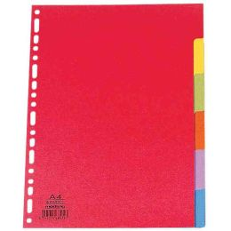 ELBA Karton-Register, blanko, 170 x 220 mm, farbig, 6-teilig