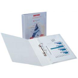 HETZEL Präsentations-Ringbuch Economic, A4, weiß, 2 Ring-