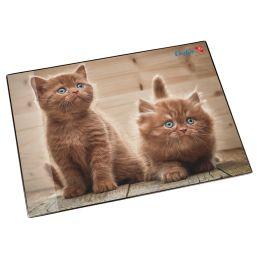 Läufer Schreibunterlage Neugierige Kätzchen, 400 x 530 mm