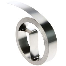 DYMO Prägeband, 12 mm breit, 3,65 m lang, Aluminium