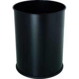 helit Stahl-Papierkorb the base, 15 Liter, schwarz