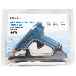 LogiLink Heißklebepistole, 80 Watt, kabellos, blau