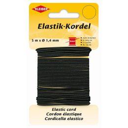 KLEIBER Elastik-Kordel, 1,4 mm x 5 m, schwarz