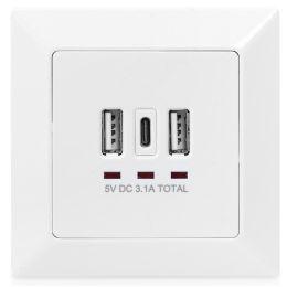 DIGITUS Steckdose mit USB-A & USB-C Ports, Unterputz-Montage