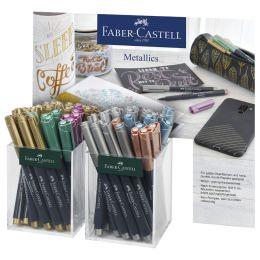 FABER-CASTELL Metallic Marker, 2er Köcher