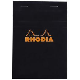 RHODIA Notizblock No. 13, DIN A6, kariert, schwarz