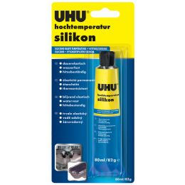 UHU Hochtemperatur-Silikon, schwarz, 80 ml Tube