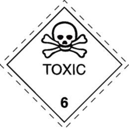 smartboxpro Gefahrgutaufkleber Klasse 6, Totenkopf + Text