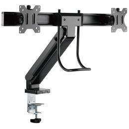 LogiLink TFT-/LCD-Doppel-Monitorarm, mit Handgriff, schwarz