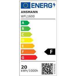ANSMANN LED-Wandstrahler LUMINARY WFL1600, IP54, schwarz