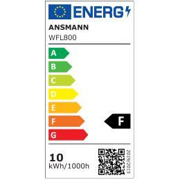 ANSMANN LED-Wandstrahler LUMINARY WFL800, IP54, schwarz