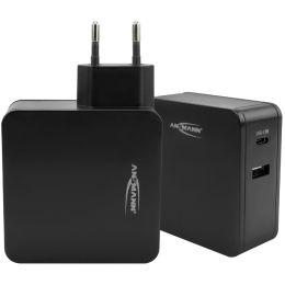 ANSMANN USB-Adapterstecker HOME CHARGER 247PD, schwarz