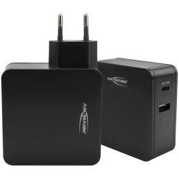 ANSMANN USB-Adapterstecker HOME CHARGER 254PD, schwarz