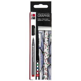 Marabu Fineliner COLOUR GRAPHIX SKYLINE, 4er Kartonetui