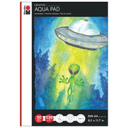 Marabu Aquarellpapierblock Aqua Pad GRAPHIX, A4, 220 g/qm