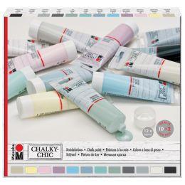 Marabu Kreidefarbe Chalky-Chic, 12 x 100 ml